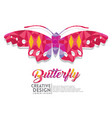 butterfly geometric paper craft style vector image