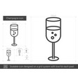 champagne line icon vector image vector image
