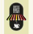 coffee house typographical vintage style poster vector image