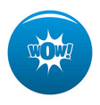 comic boom icon blue vector image