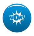 comic boom icon blue vector image vector image