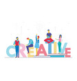 creative business team - flat design style vector image vector image