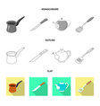 design of kitchen and cook logo set of vector image vector image