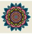 doodle boho floral colored mandala vector image vector image