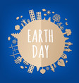 earth day postcard vector image vector image