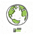 earth planet go green concept vector image vector image