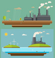 ecology concept green energy and environment vector image