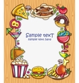 Food frame vector image