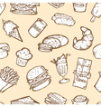 FOOD SEAMLESS PATTERN vector image vector image