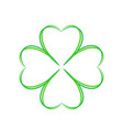 four leaf green clover ahnd draw lucky vector image