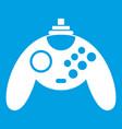 gamepad icon white vector image