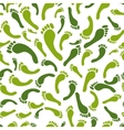 Green footprint seamless pattern for your design vector image