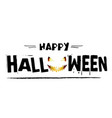 happy halloween smiling ghost background im vector image