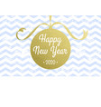 happy new year 2020 greeting card christmas vector image