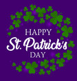 happy st patricks day elegant greeting vector image