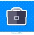 Icon of briefcase vector image