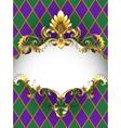 Luxury Banner Mardi Gras vector image vector image