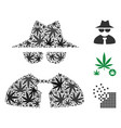 mafia boss collage of weed leaves vector image