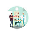 man at reception a doctor flat vector image