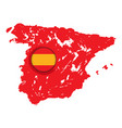 map of spain with a label vector image vector image