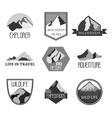 Mountain adventure and expedition logo badges vector image vector image