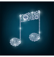 Music note with concept diamond vector image