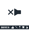 Mute icon flat vector image