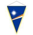 national flag of marshall islands vector image vector image