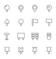 navigation pins icons set vector image