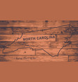 north carolina map brand vector image vector image