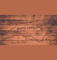 north carolina map brand vector image