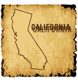 old california map vector image vector image