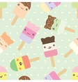 pattern cute kawaii style ice cream bars vector image vector image