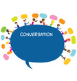 People Conversation Text Balloon vector image