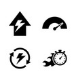 performance simple related icons vector image