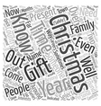 Possible Gifts For Impossible People text vector image vector image