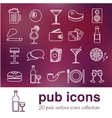 pub outline icons vector image vector image