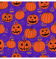 Purple and orange halloween seamless pattern with vector image vector image