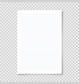 realistic blank lined paper sheet in a4 format