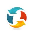 refresh arrow circle logo vector image