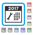 repair 2017 calendar framed icon vector image