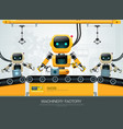 robot machine artificial intelligence technology vector image
