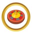 Roulette in casino icon vector image vector image