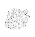 saba map of polygonal mosaic lines network rays vector image vector image