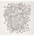 Sale doodles elements sketch background vector image vector image