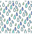 seamless colorful rain drops pattern background on vector image vector image