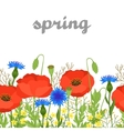 Seamless floral pattern with pretty spring flowers vector image