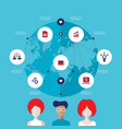 social network and teamwork successful business vector image