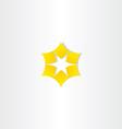 star yellow logo icon vector image vector image