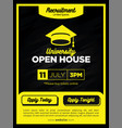 strong and bold yellow real estate open house vector image
